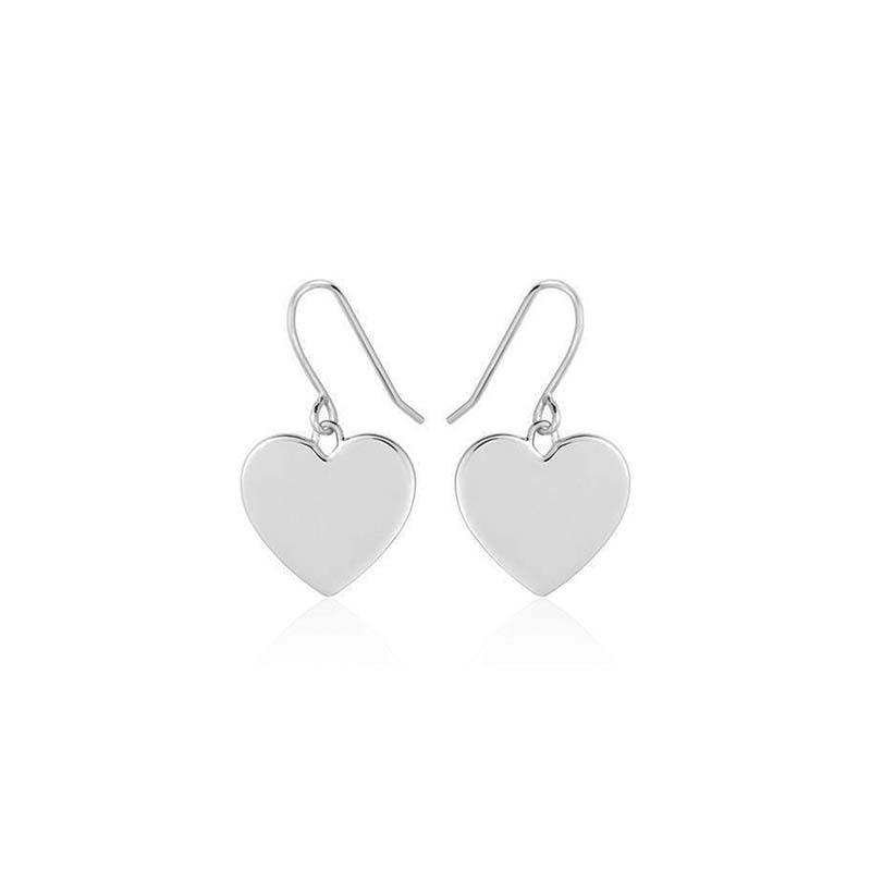 Sophie by sophie heart hook earrings silver
