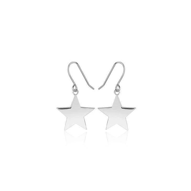 Sophie by sophie star hook earrings silver