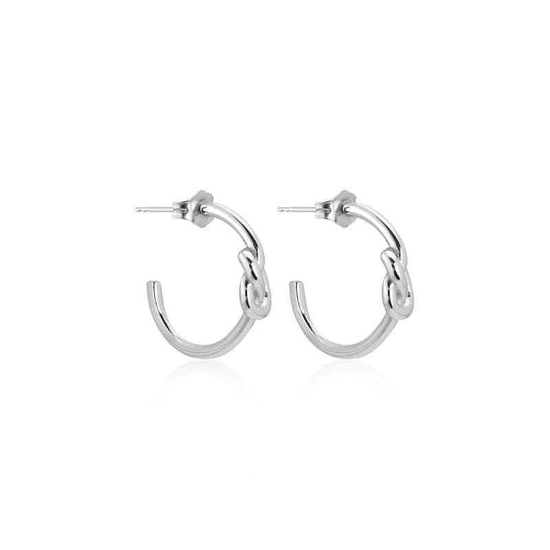 Sophie by sophie knot mini hoops silver