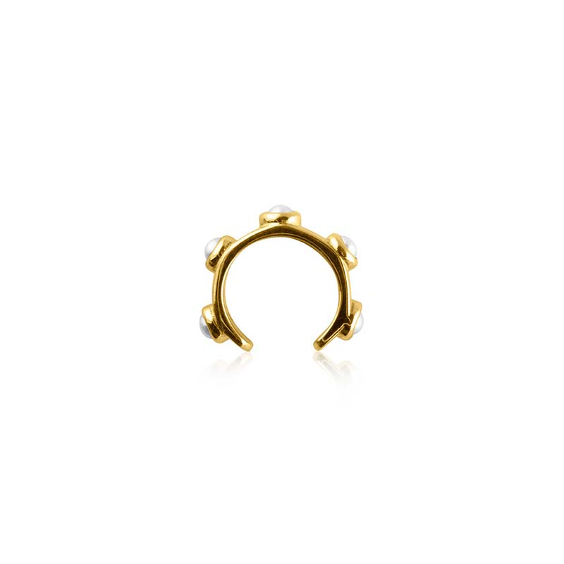 Sophie by sophie funky pearl earcuff gold