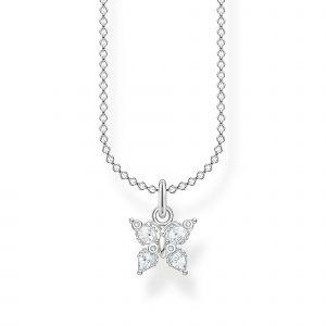 Halsband Fjäril med Stenar Petite från Thomas Sabo
