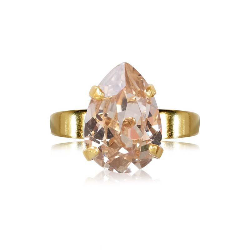Caroline Svedbom Mini Drop Ring Gold Silk