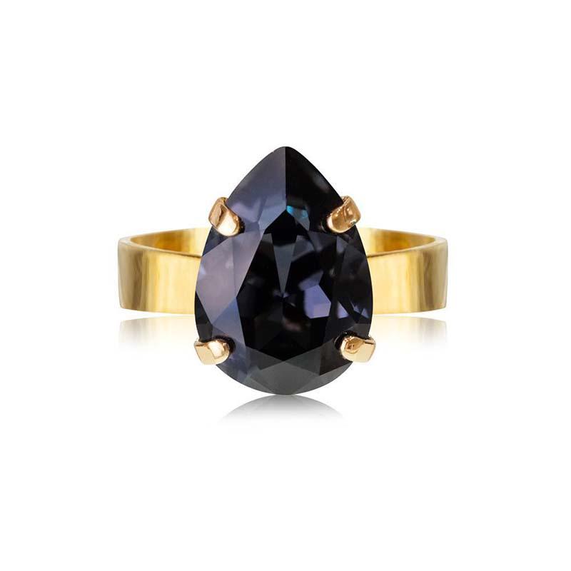 Caroline Svedbom Mini Drop Ring Gold Graphite
