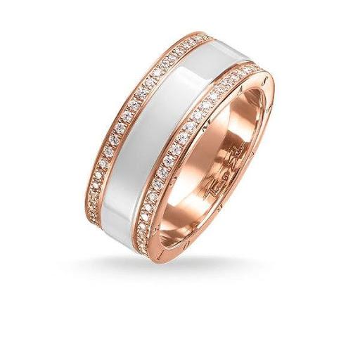 Thomas Sabo Glam and Soul Ring Vit Rosé