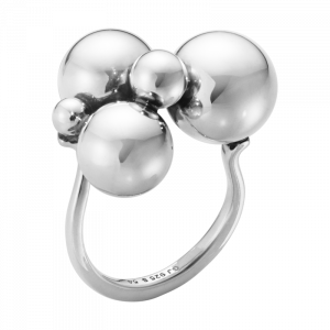 Moonlight Grapes Ring Druvklase Silver från Georg Jensen