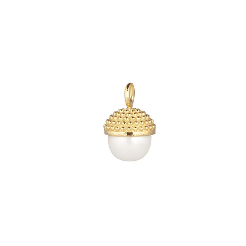 CU Jewellery Letters Pearl Bubble Pendant Gold