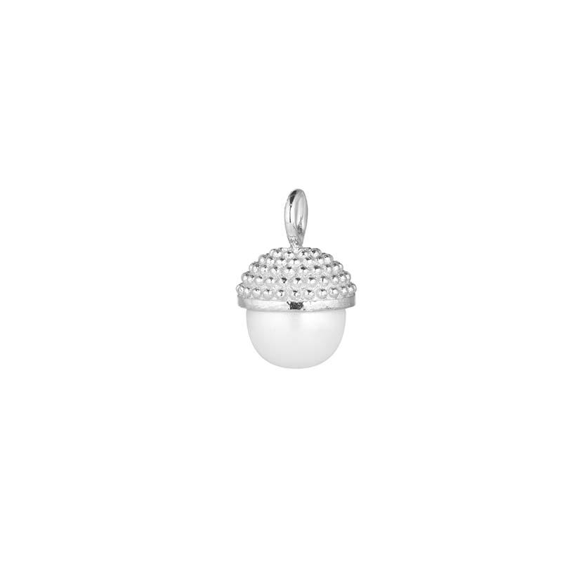 CU Jewellery Letters Pearl Bubble Pendant Silver