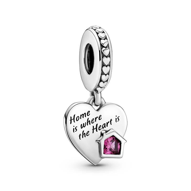 Pandora Älskar mitt Hem Hjärta Hängberlock