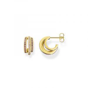 Lila Stenar Creoler Guld från Thomas Sabo