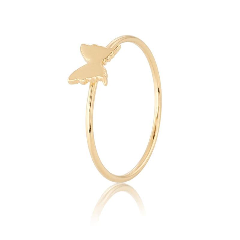 Carolina Gynning Petite Papillion Ring Guld