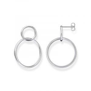 Örhängen Dubbla Cirklar Silver från Thomas Sabo