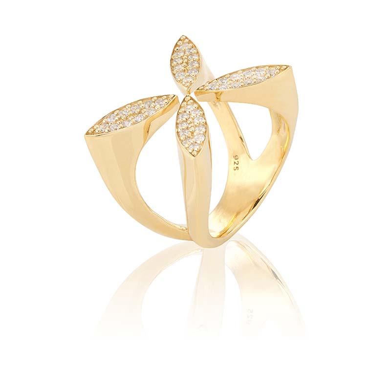 Carolina Gynning Sparkling Ellipse Ring Guld