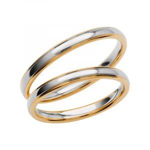 Schalins Förlovningsring Color Of Love SR3004 18K Guld/Vitguld  - Jewelrybox.se