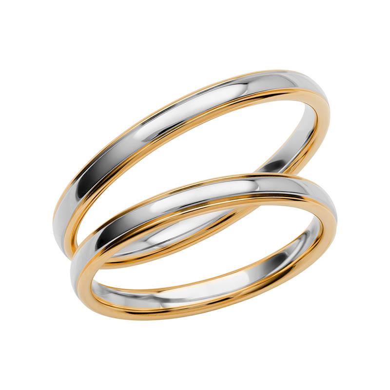 Schalins Förlovningsring Color Of Love SR3004 18K Guld/Vitguld