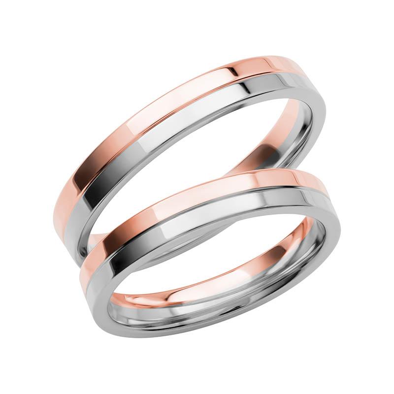 Schalins Förlovningsring Color Of Love SR3005 18K Roséguld/Vitguld