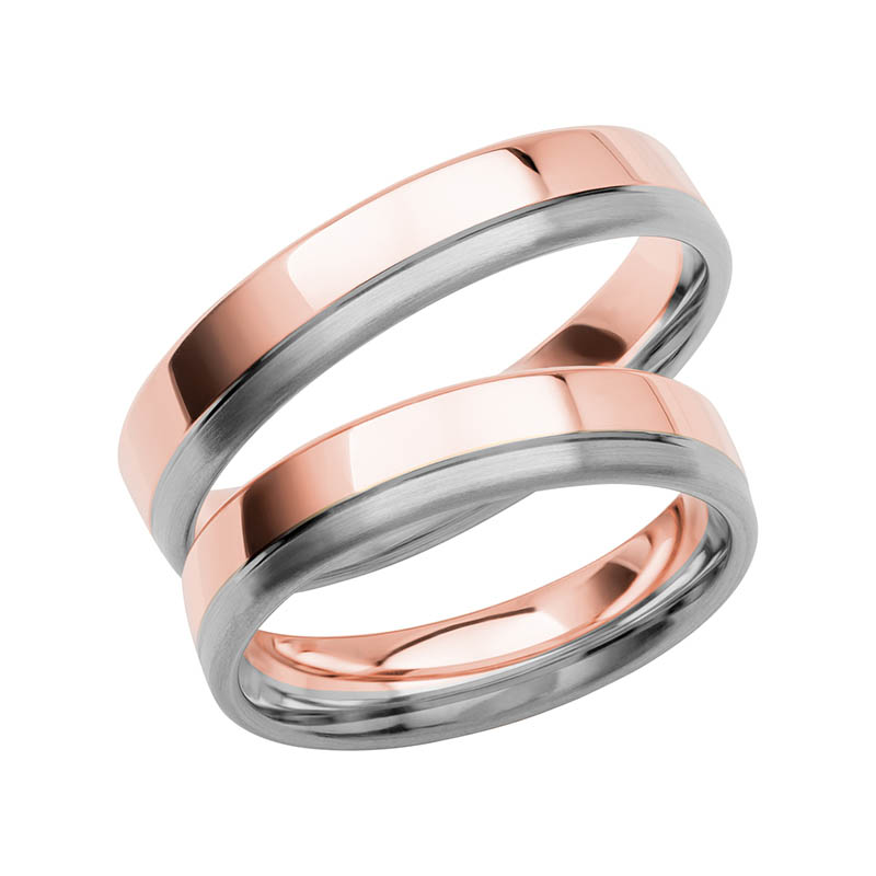 Schalins Förlovningsring Color Of Love SR3006 18K Roséguld/Vitguld