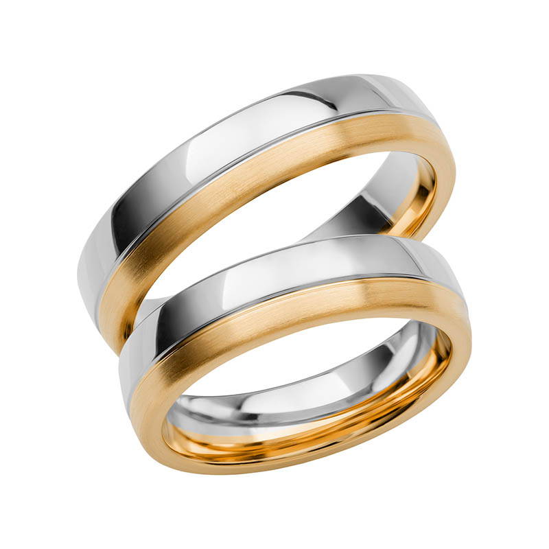 Schalins Förlovningsring Color Of Love SR3007 18K Guld/Vitguld