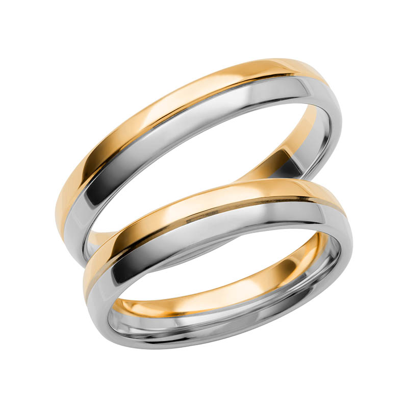 Schalins Förlovningsring Color Of Love SR3010 18K Guld/Vitguld