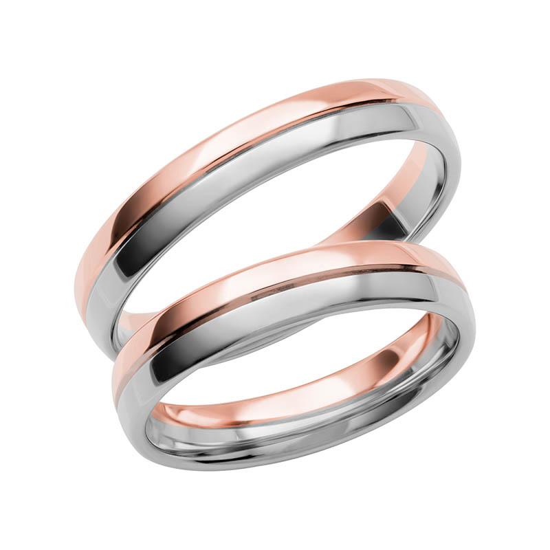 Schalins Förlovningsring Color Of Love SR3010 18K Roséguld/Vitguld