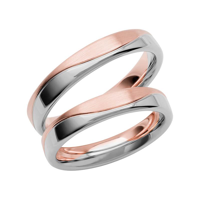 Schalins Förlovningsring Color Of Love SR3015 18K Roséguld/Vitguld