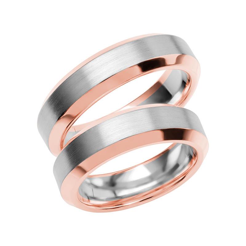 Schalins Förlovningsring Color Of Love SR3016 18K Roséguld/Vitguld