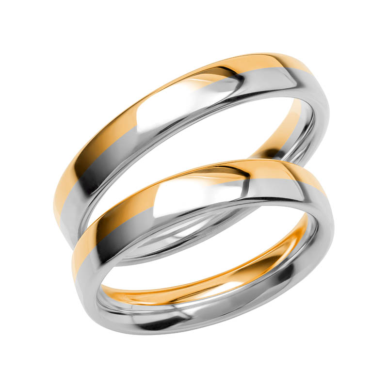 Schalins Förlovningsring Color Of Love SR3017 18K Guld/Vitguld