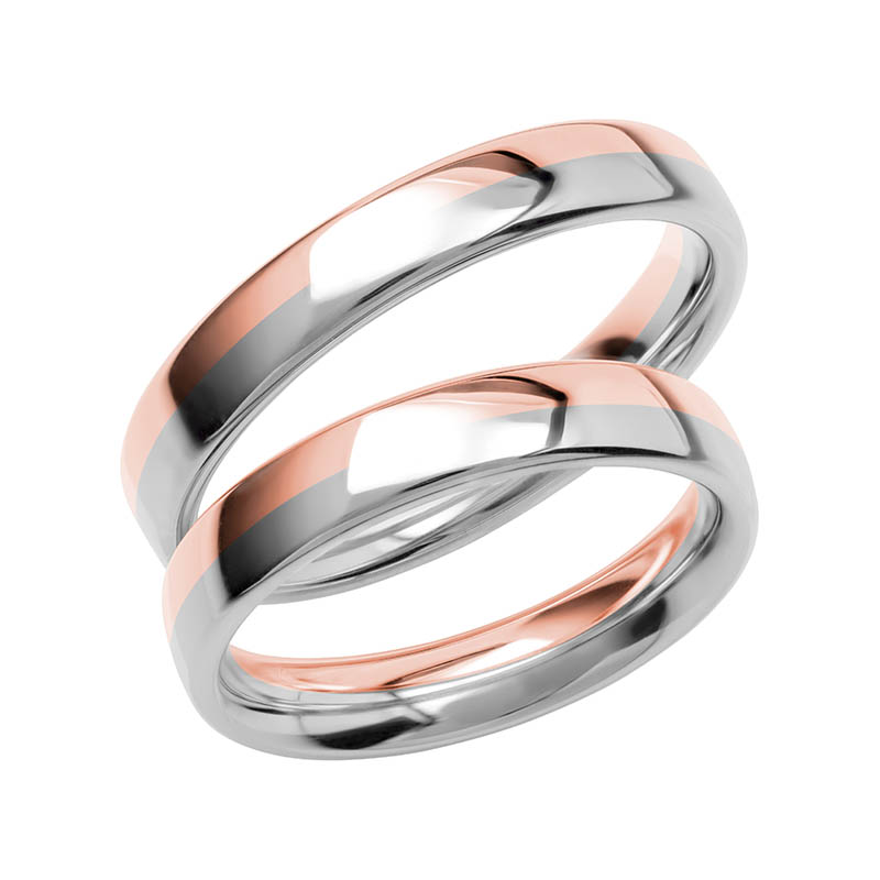Schalins Förlovningsring Color Of Love SR3017 18K Roséguld/Vitguld