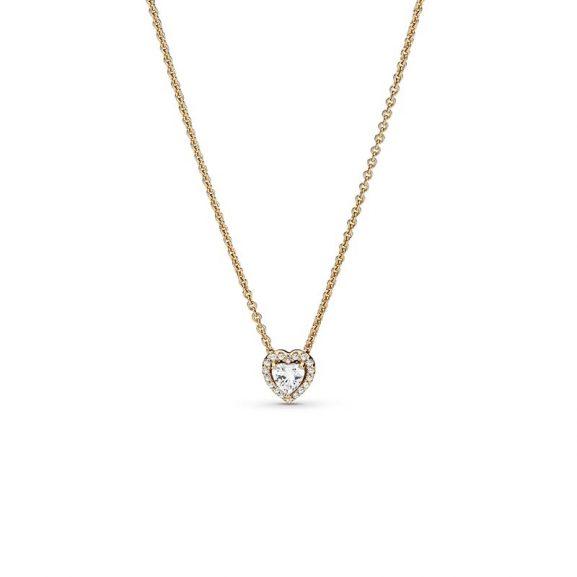 Upphöjda Hjärtan Halsband 14K Guld från PANDORA