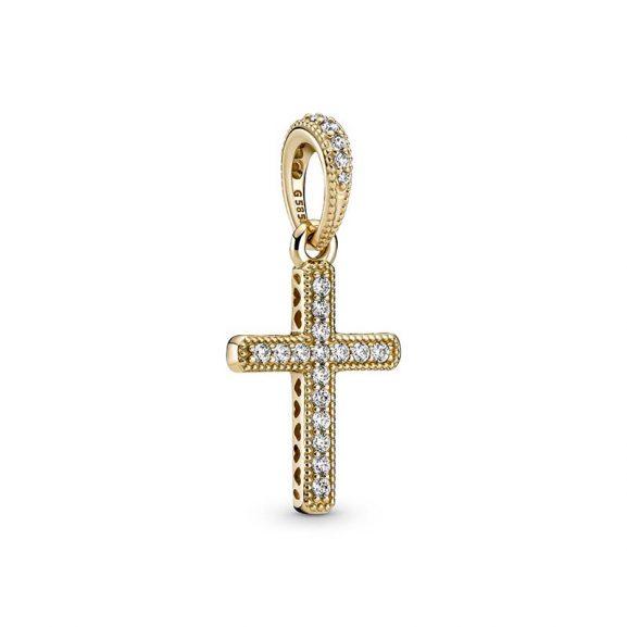 Glittrande Kors Hängsmycke 14K Guld från PANDORA