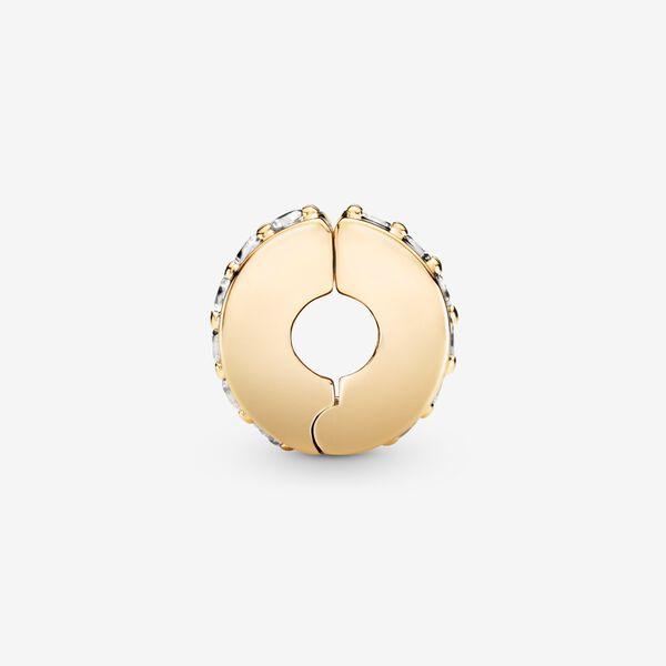 Klar Glittrande Rad Clipberlock 14K Guld från PANDORA