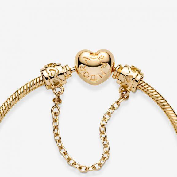 Hjärtan Säkerhetskedja 14K Guld från PANDORA