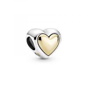 Välvt Gyllene Hjärta Berlock från PANDORA