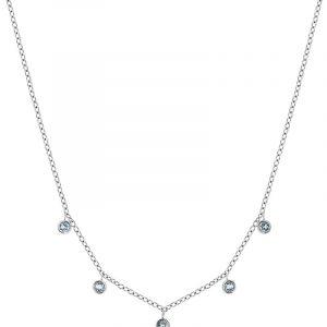 Dew Drop Necklace Multi Aqua Steel från Edblad