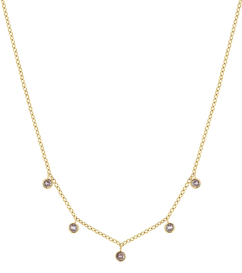 Edblad Dew Drop Necklace Multi Blush Gold