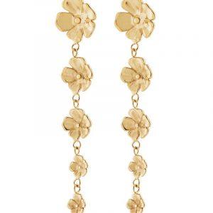 Floral Earrings Gold från Edblad