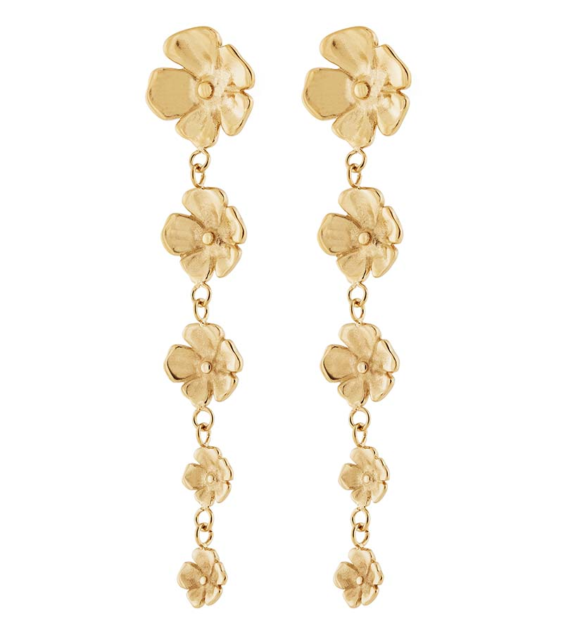 Edblad Floral Earrings Gold