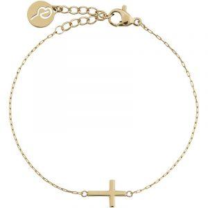 Spirit Cross Bracelet Gold från Edblad