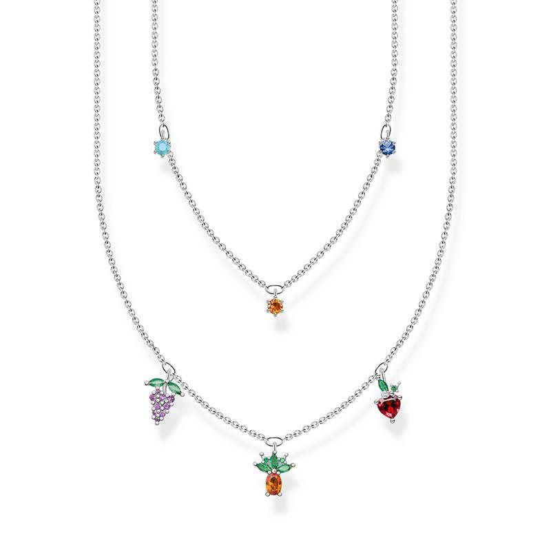 Thomas Sabo Halsband Färgglada Frukter Silver