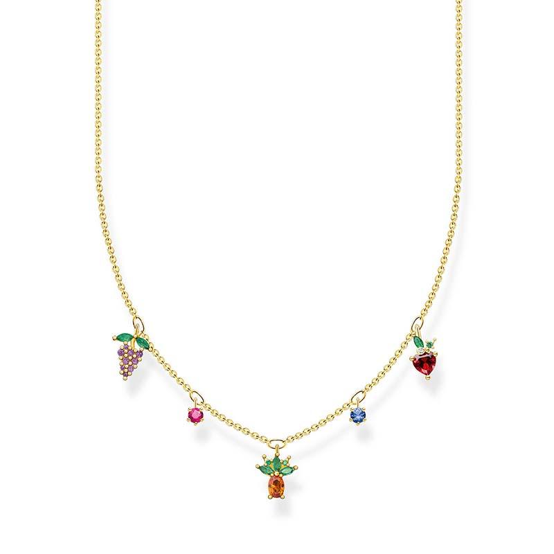 Thomas Sabo Halsband Färgglada Frukter Guld