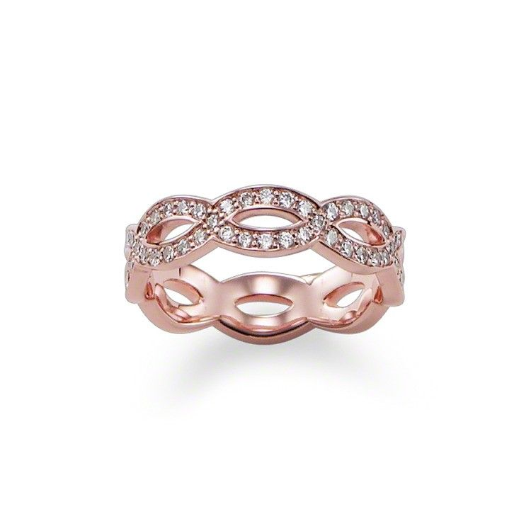 Thomas Sabo Wave Ring Glittrande Rosé