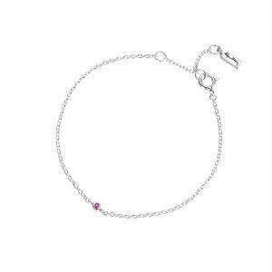 Micro Blink Bracelet - Pink Sapphire från Efva Attling