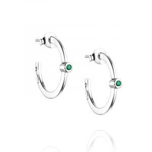 Micro Blink Hoops - Green Emerald från Efva Attling