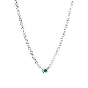Micro Blink Necklace - Green Emerald från Efva Attling