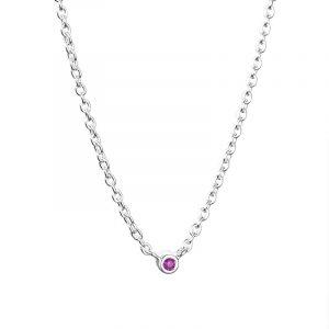 Micro Blink Necklace - Pink Sapphire från Efva Attling