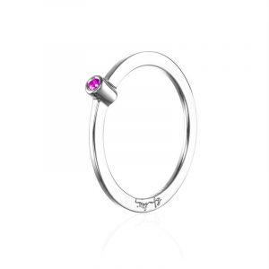 Micro Blink Ring - Pink Sapphire från Efva Attling
