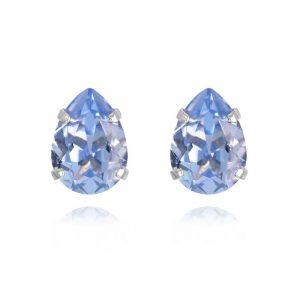 Mini Drop Stud Earrings Rhodium Light Sapphire från Caroline Svedbom