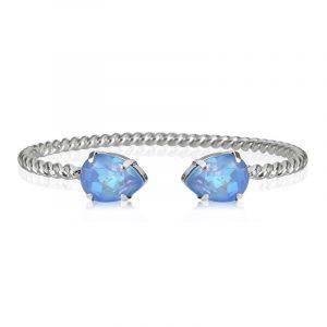 Mini Drop Bracelet Rhodium Ocean Blue Delite från Caroline Svedbom