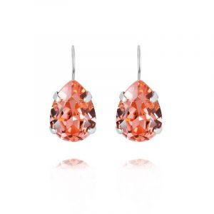 Mini Drop Clasp Earrings Rhodium Rose Peach från Caroline Svedbom