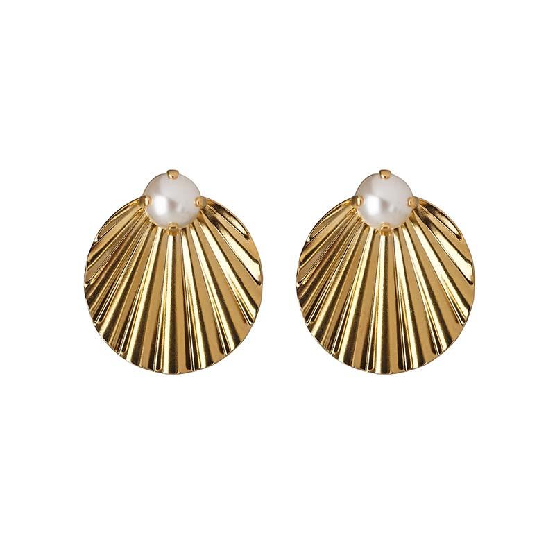 Caroline Svedbom Milos Earrings Gold Pearl