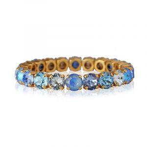 Gia Stud Bracelet Gold Ocean Blue Combo från Caroline Svedbom